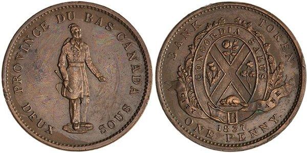 1 пенни 1837 г.
