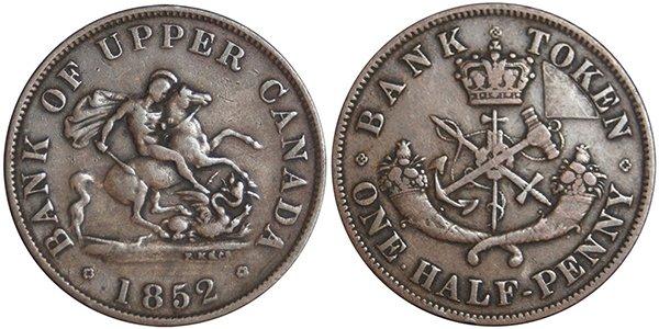 ½ пенни 1850 г.