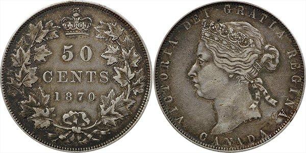 50 центов 1870 г.