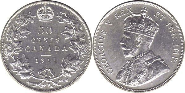 50 центов 1911 г.
