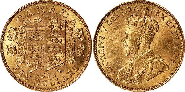 10 долларов 1912 г.