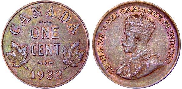 1 цент 1932 г.