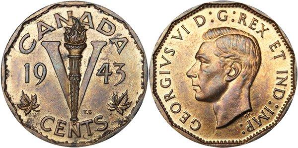 5 центов 1943 г.