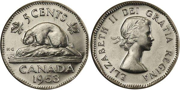 5 центов 1953 г.