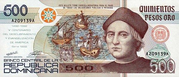 Аверс банкноты Доминиканы