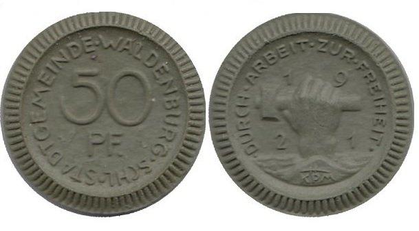 50 пфеннигов Вальденбург