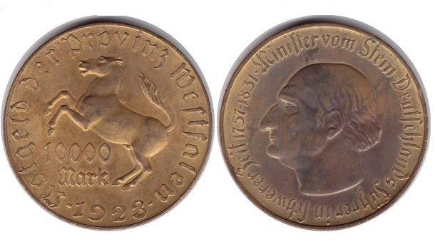 10 000 марок Вестфалия
