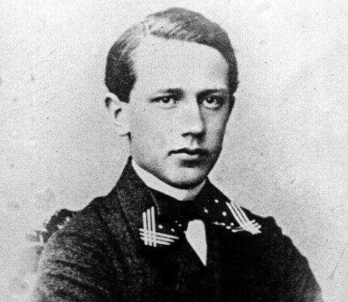 Фотография Петра Чайковского в молодости, 1863 год