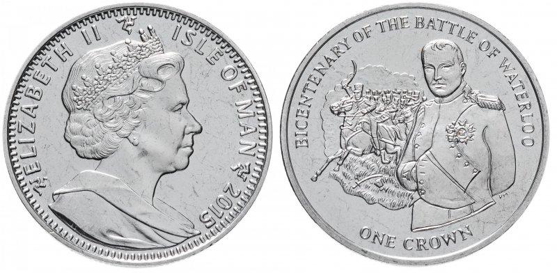 Крона острова Мэн «200 лет битве при Ватерлоо» (2015)