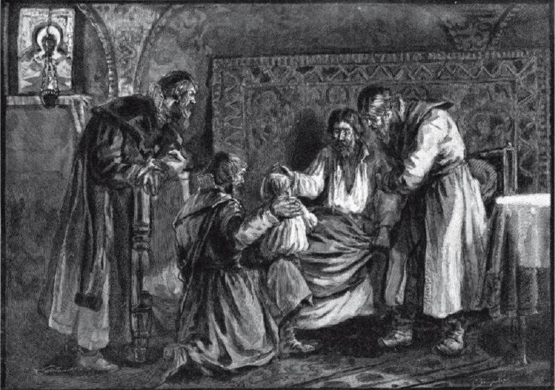 Василий III благословляет сына своего Ивана IV перед кончиной