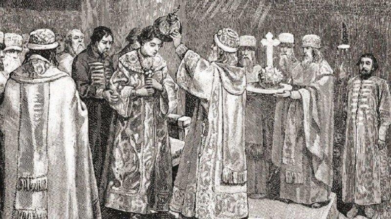 Венчание Ивана Васильевича на царствование