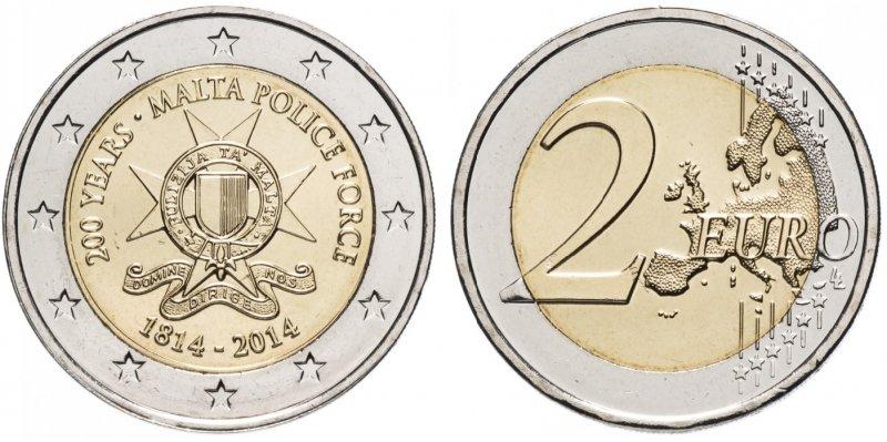 """""""200 лет полиции Мальты"""". 2014 год. Монетный двор: Утрехт (Нидерланды)"""