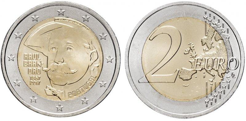 """""""150 лет со дня рождения Рауля Брандао"""". 2017 год. Монетный двор: Лиссабон"""