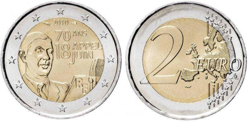 """""""70 лет воззванию Шарля де Голля"""". 2010 год. Парижский монетный двор Франции (Пессак)"""