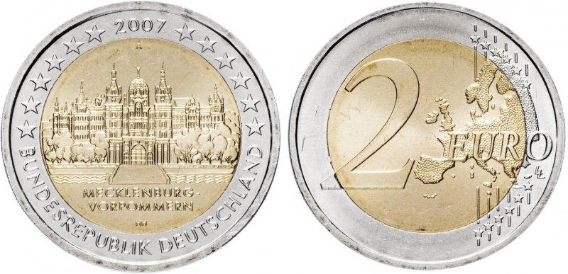 """""""Мекленбург-Передняя Померания"""". 2007 год. Монетный двор: Берлин (литера «А»)"""