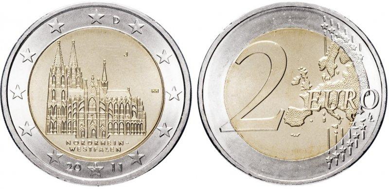 """""""Северный Рейн-Вестфалия"""". 2011 год. Монетный двор: Гамбург (литера «J»)"""