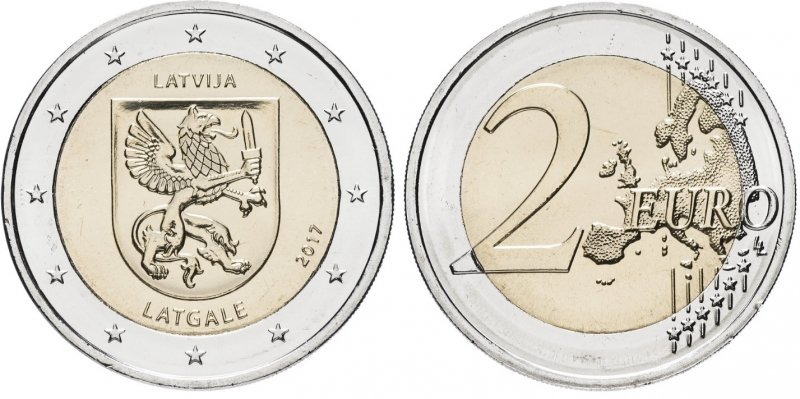 """""""Латгалия"""". 2017 год. Монетный двор: Вильнюс"""