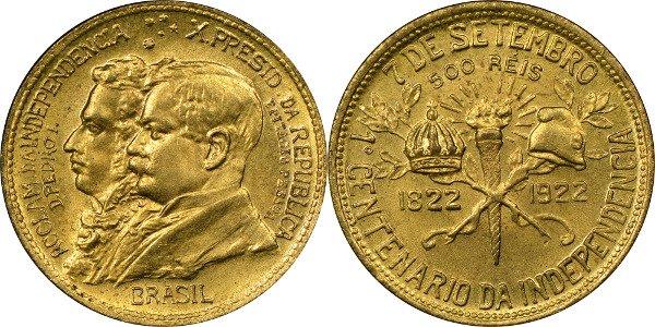 500 реалов 1922 г.