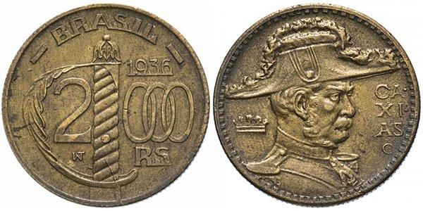 2000 реалов 1936 г.