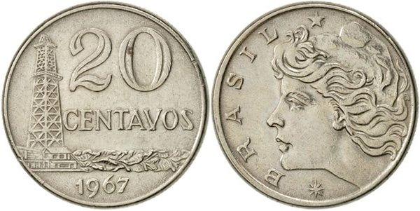 20 сентаво 1967 г. «новый крузейро»