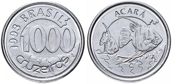 1000 крузейро 1993 г.