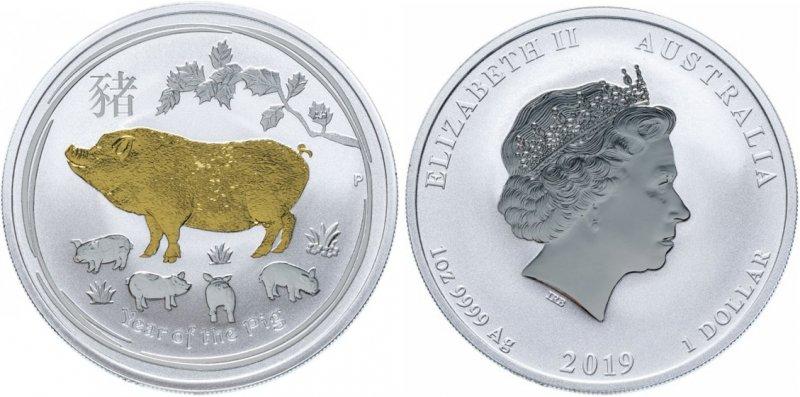 1 доллар Австралии 2019 года