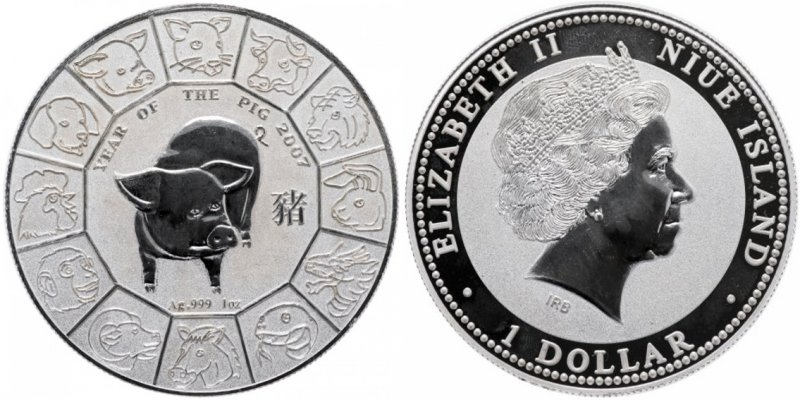 1 доллар Ниуэ 2007 года
