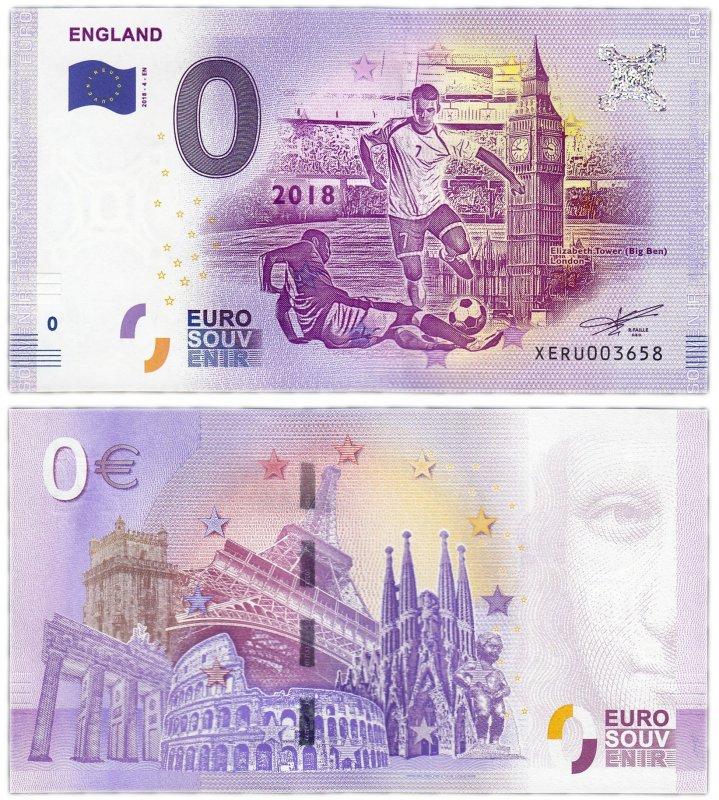 """0 евро (2018) """"Англия"""""""