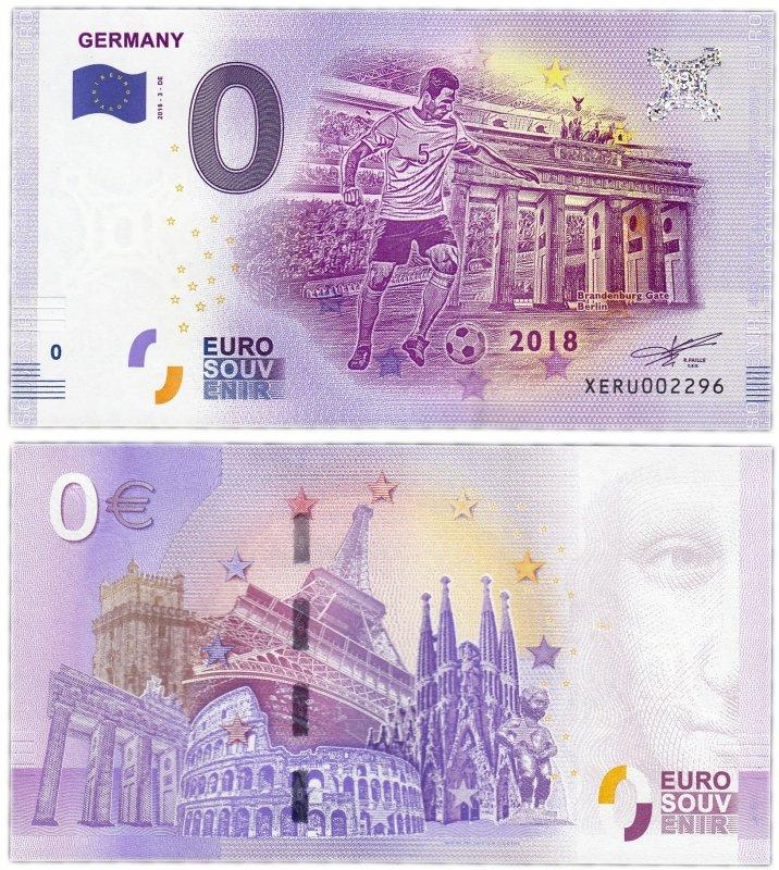 "0 евро (2018) ""Германия"""
