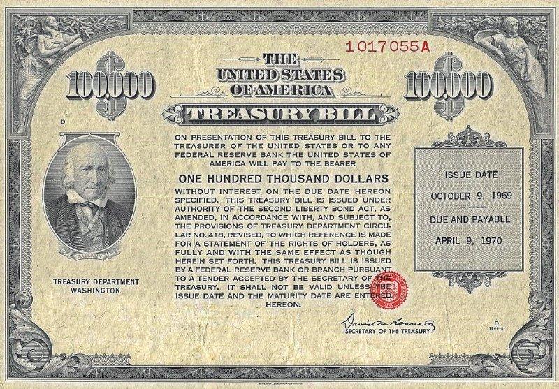 Казначейские обязательства Минфина США (US Treasuries), 1969 год