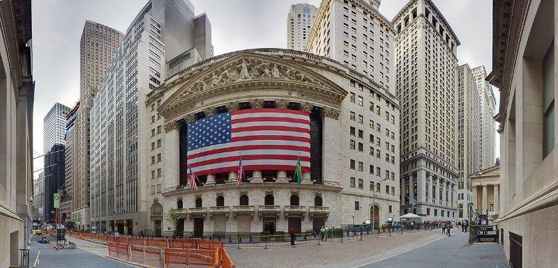 Здание Нью-Йоркской биржи на Уолл-стрит, 2012 год