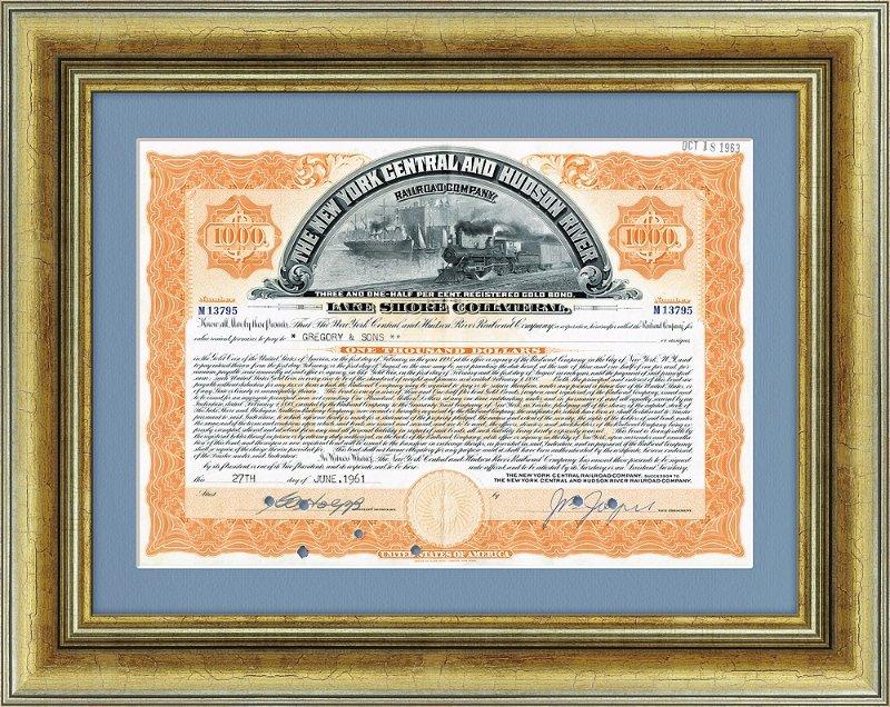 «Золотая» облигация США в подарочном оформлении, 1963 год