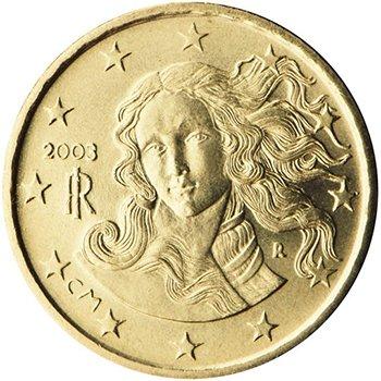 10 центов 2003 года, Италия. «Рождение Венеры» (Сандро Боттичели)