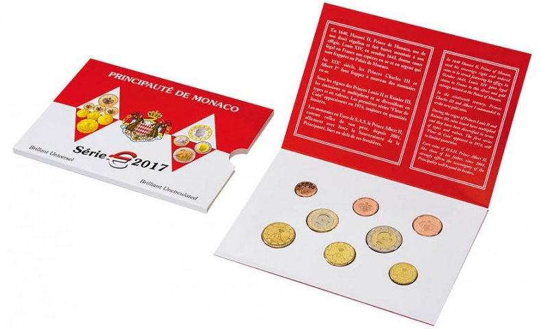 Набор монет Монако 2017 года