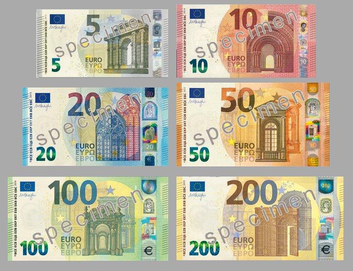 Банкноты евро новой серии
