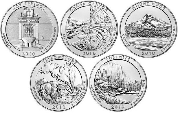 Первые монеты серии