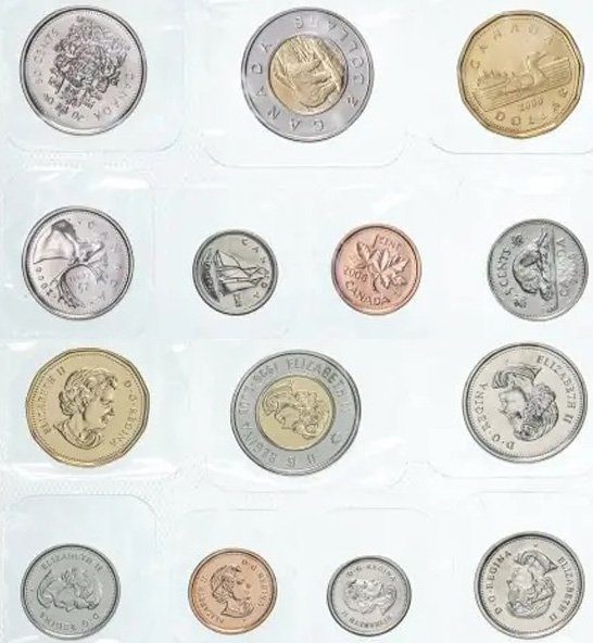 Современные канадские монеты для регулярного обращения