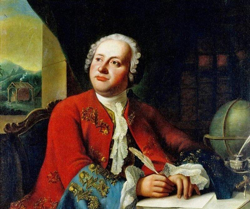 Копия единственного прижизненного портрета М.В. Ломоносова работы Георга Преннера 1787 г.