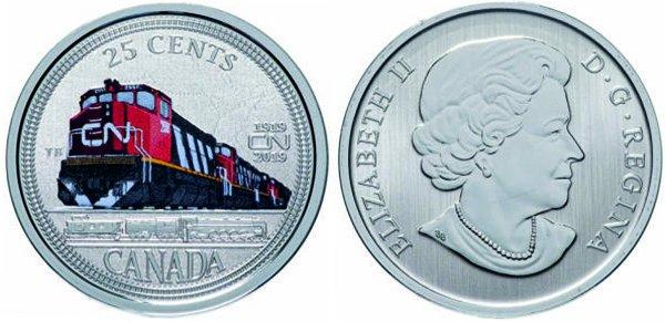 25 центов, 2019 год, Канада