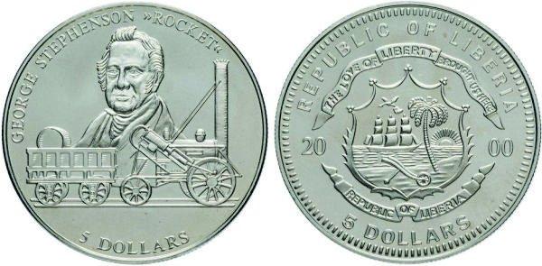 5 долларов, 2000 год, Либерия