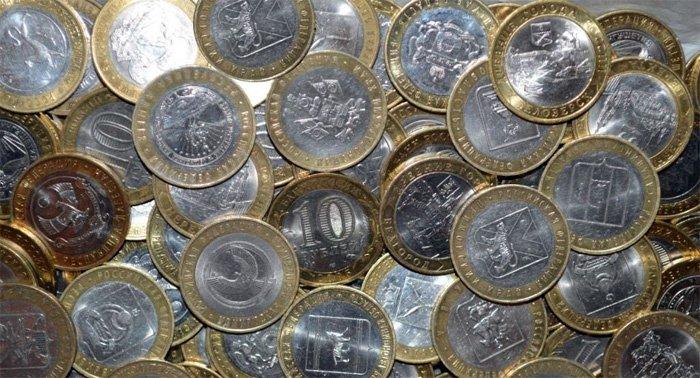 Современные биметаллические монеты массовых тиражей