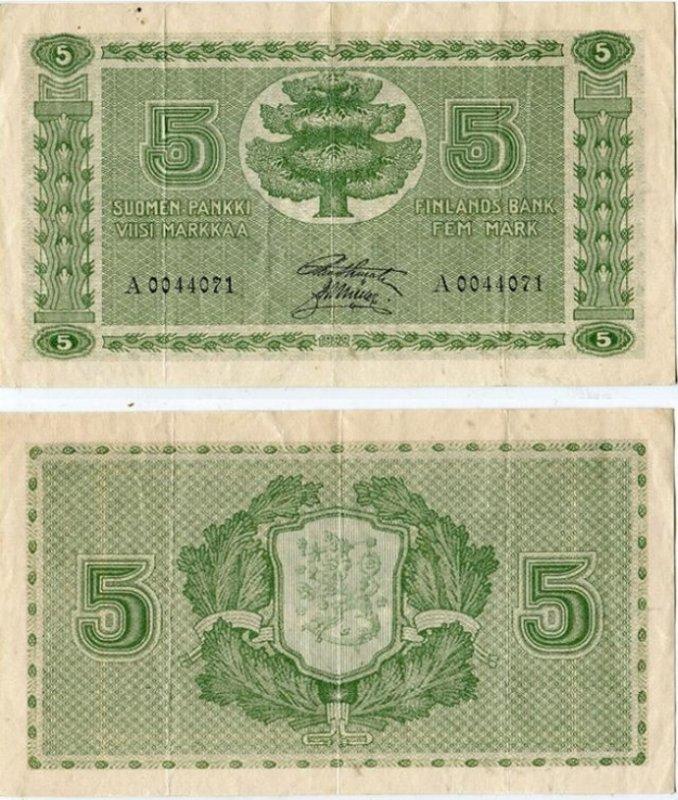 5 марок 1922