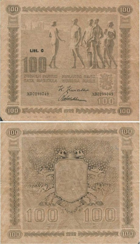 100 марок 1922