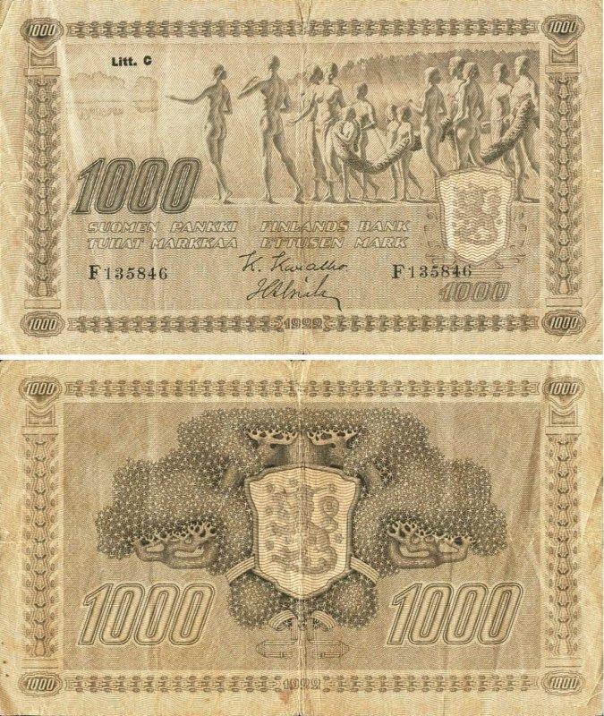1000 марок 1922