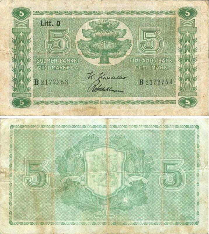 5 марок 1939