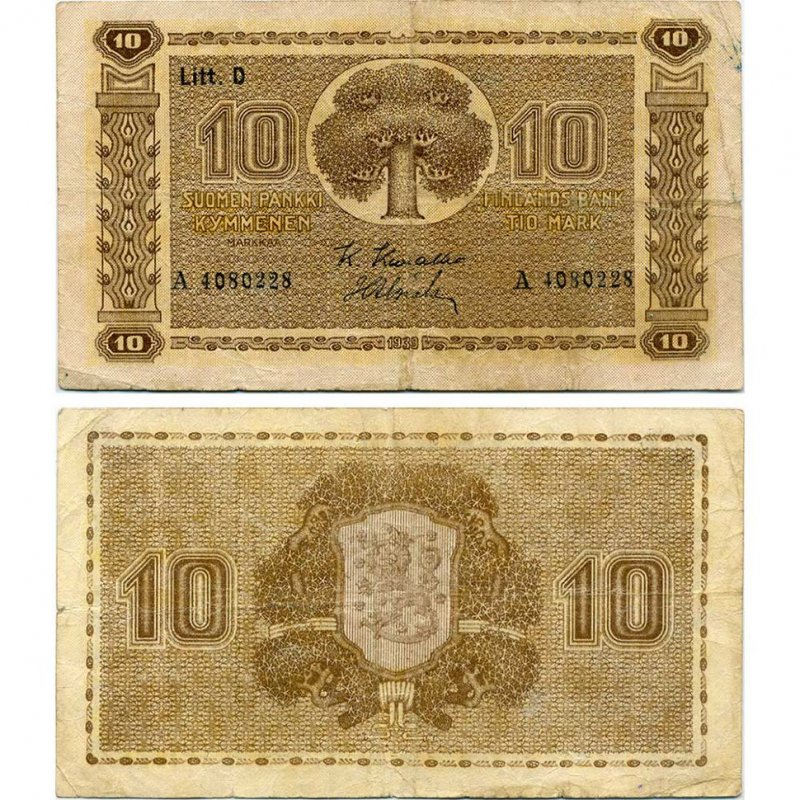 10 марок 1939