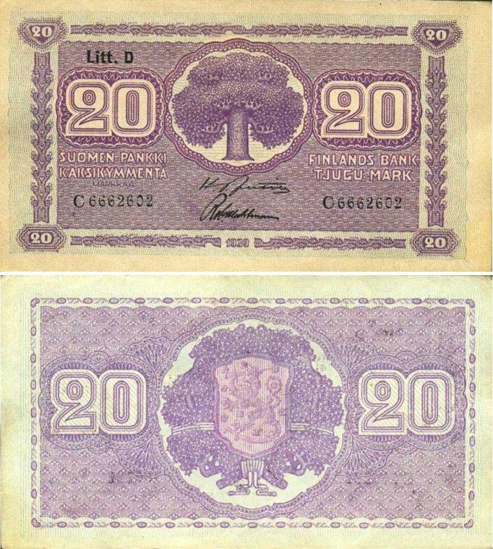 20 марок 1939