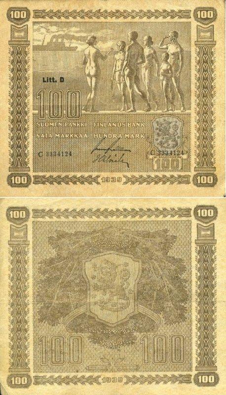 100 марок 1939