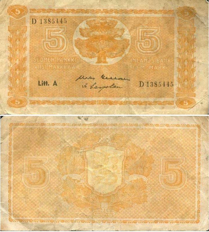 5 марок 1945
