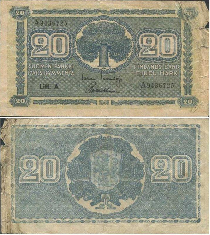 20 марок 1945